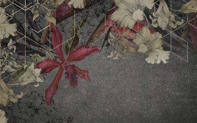 Papel pintado de flores modernas, un aire de primavera